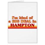 Soy un poco una GRAN COSA en Hampton Tarjetas