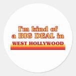 Soy un poco una GRAN COSA en Hollywood del oeste Etiqueta Redonda