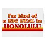 Soy un poco una GRAN COSA en Honolulu Tarjetas