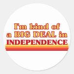 Soy un poco una GRAN COSA en independencia Etiqueta Redonda