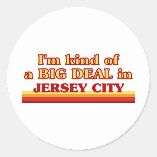 Soy un poco una GRAN COSA en Jersey City Pegatinas Redondas