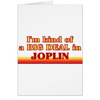 Soy un poco una GRAN COSA en Joplin Tarjeton