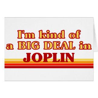 Soy un poco una GRAN COSA en Joplin Tarjetón