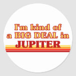Soy un poco una GRAN COSA en Júpiter Pegatina Redonda