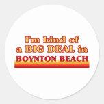 Soy un poco una GRAN COSA en la playa de Boynton Pegatina Redonda