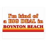 Soy un poco una GRAN COSA en la playa de Boynton Postal