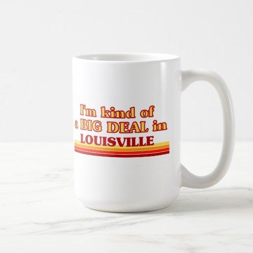 Soy un poco una GRAN COSA en Louisville Tazas De Café
