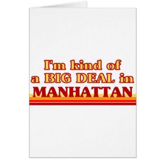Soy un poco una GRAN COSA en Manhattan Felicitación