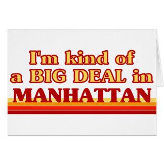 Soy un poco una GRAN COSA en Manhattan Tarjeta