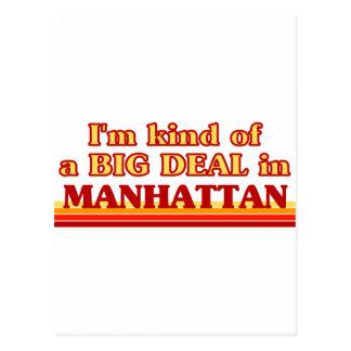 Soy un poco una GRAN COSA en Manhattan Tarjetas Postales