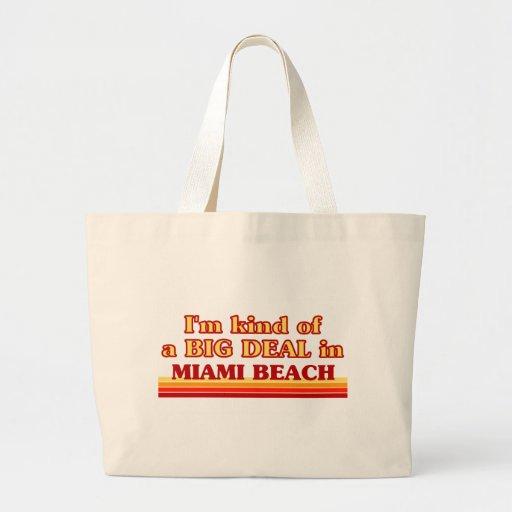 Soy un poco una GRAN COSA en Miami Beach Bolsa Tela Grande