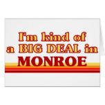 Soy un poco una GRAN COSA en Monroe Tarjetón