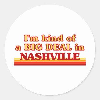 Soy un poco una GRAN COSA en Nashville Etiqueta Redonda