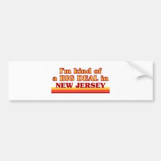 Soy un poco una GRAN COSA en New Jersey Pegatina De Parachoque
