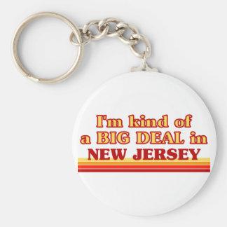 Soy un poco una GRAN COSA en New Jersey Llavero Redondo Tipo Pin
