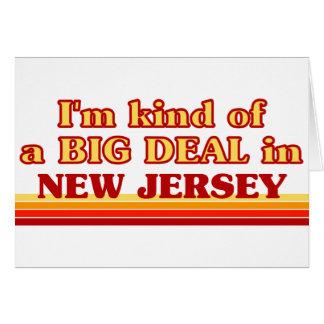 Soy un poco una GRAN COSA en New Jersey Tarjeton