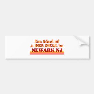Soy un poco una GRAN COSA en Newark Pegatina De Parachoque