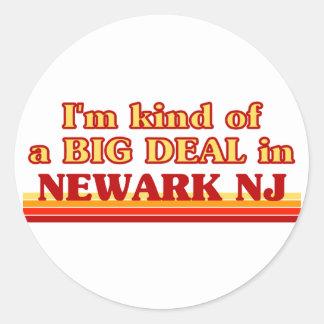 Soy un poco una GRAN COSA en Newark Etiqueta Redonda