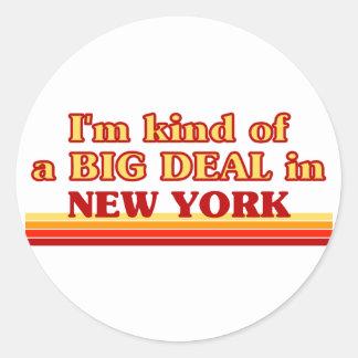 Soy un poco una GRAN COSA en Nueva York Pegatina Redonda