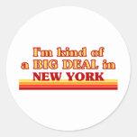 Soy un poco una GRAN COSA en Nueva York Etiqueta Redonda