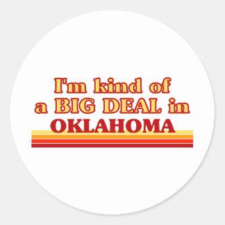 Soy un poco una GRAN COSA en Oklahoma Etiquetas Redondas