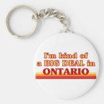 Soy un poco una GRAN COSA en Ontario Llavero Personalizado