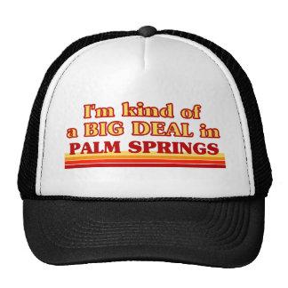 Soy un poco una GRAN COSA en Palm Springs Gorras De Camionero