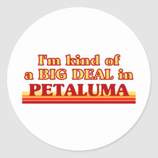 Soy un poco una GRAN COSA en Petaluma Etiquetas Redondas