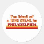 Soy un poco una GRAN COSA en Philadelphia Etiquetas Redondas