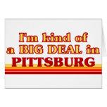 Soy un poco una GRAN COSA en Pittsburg Felicitacion