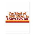 Soy un poco una GRAN COSA en Portland Tarjetas Postales