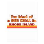 Soy un poco una GRAN COSA en Rhode Island Tarjeta Postal