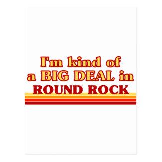 Soy un poco una GRAN COSA en roca redonda Postales