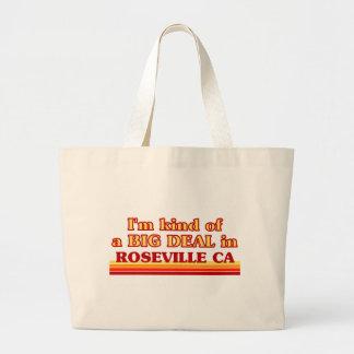 Soy un poco una GRAN COSA en Roseville Bolsas Lienzo