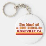 Soy un poco una GRAN COSA en Roseville Llaveros