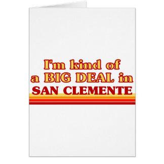 Soy un poco una GRAN COSA en San Clemente Tarjeta