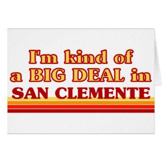 Soy un poco una GRAN COSA en San Clemente Tarjetón
