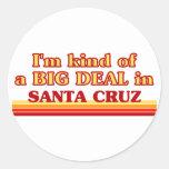 Soy un poco una GRAN COSA en Santa Cruz Pegatinas Redondas