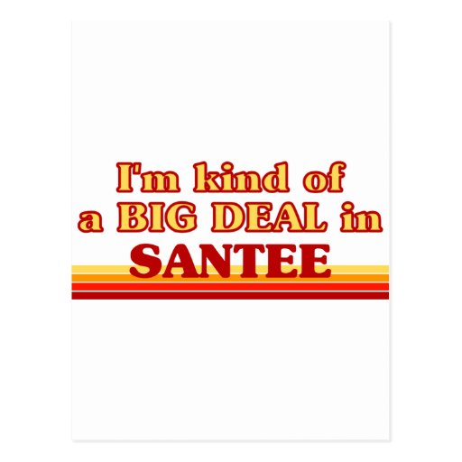 Soy un poco una GRAN COSA en Santee Tarjetas Postales