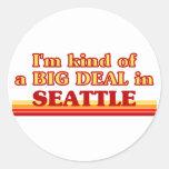 Soy un poco una GRAN COSA en Seattle Etiqueta Redonda