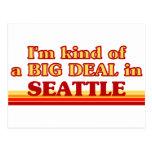Soy un poco una GRAN COSA en Seattle Tarjeta Postal