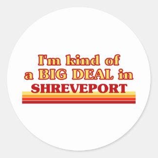 Soy un poco una GRAN COSA en Shreveport Pegatinas Redondas