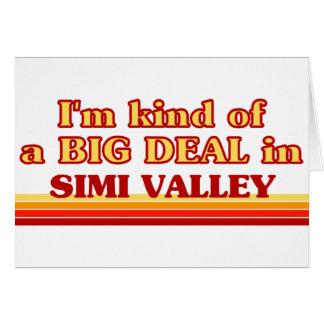 Soy un poco una GRAN COSA en Simi Valley Tarjeta De Felicitación