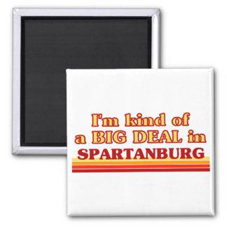 Soy un poco una GRAN COSA en Spartanburg Imán Cuadrado
