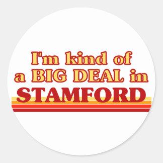Soy un poco una GRAN COSA en Stamford Etiquetas Redondas