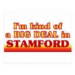 Soy un poco una GRAN COSA en Stamford Tarjetas Postales