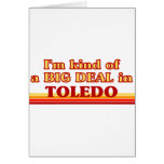 Soy un poco una GRAN COSA en Toledo Tarjetón