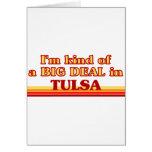 Soy un poco una GRAN COSA en Tulsa Tarjetón