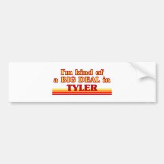 Soy un poco una GRAN COSA en Tyler Etiqueta De Parachoque