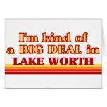 Soy un poco una GRAN COSA en valor del lago Felicitación